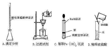 组成的混合物溶于足量的水中,充分溶解,用1molL-1稀硫酸滴定,加入稀硫酸的体积与生成沉淀的质量关系如图所示。下列有关判定正确的是 A.A~B段所发生反应的离子方程式是:Ba2 SO42- = BaSO4 B.B~C段所发生反应的离子方程式是:H OH- = H2O C.D点所表示的沉淀的化学式是: Al(OH)3、 BaSO4 D.E点所表示的溶液中:n (Na ) = n (Cl-) 10.设NA为阿伏加德罗常数,下列说法中正确的是 A.12.