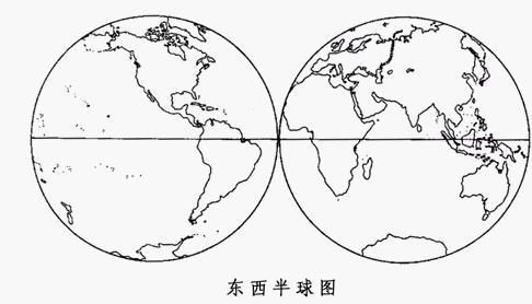 七大洲轮廓图简笔画