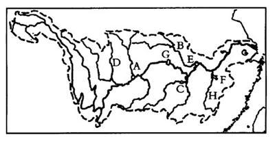 中国地图空白轮廓图