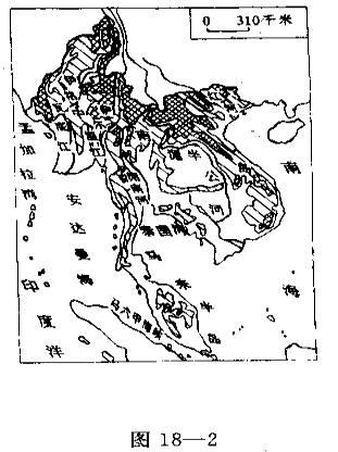 中南半岛地形图