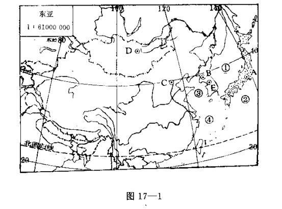 东亚地图中文版