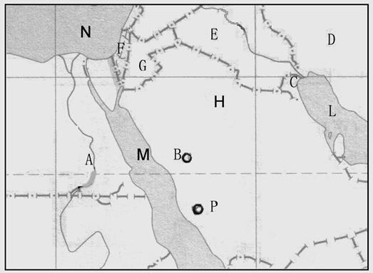 试题 命题人:高洪昌 本试卷分第卷和第卷两部分,共100分;答题时间90分钟。 第卷(选择题,共60分) 一、选择题(共60分,下列各题的四个备选项中,只有一个是正确的,多选、不选或错选,该题不得分,选对一题得1.5分) 下图表示除南极洲外的六大洲人口占世界总人口的比例。读图回答13题。 1.人口增长最快的大洲是 A.a B.b C.c D.f 2.e大洲的人口问题主要表现在 A.人口增长过快,人均资源不足 B.人口素质低,缺乏环保意识 C.人口老龄化,劳动力不足 D.女性比例小,人口生育率低 3.