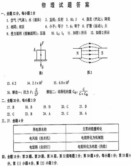 九年级物理电路测试题