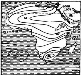 读非洲某月海平面气压分布图图片