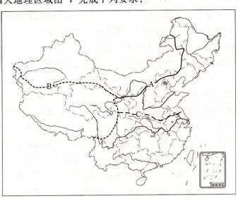 中国山脉手绘图